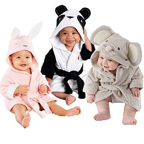 XZYC Bademantel Baby Unisex Robe Baby Kapuze Bademantel Badetuch Bad Bademantel, Panda, 4T