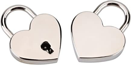 Hartvormig Hangslot Heart Love Flat Lock Met Sleutel Voor Valentijnsdaggeschenk Journal Kofferbagage