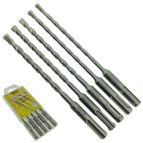 5 x SabreCut SDSAK4 5mm 5.5mm 6mm 6.5mm 7mm x 160mm PGM Approved SDS Plus Drill Bit Mix Kit for Stone Concrete Brick