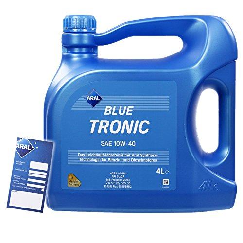 4 L LITER ARAL BLUETRONIC BLUE TRONIC 10W-40 MOTOR-ÖL MOTOREN-ÖL 32007649
