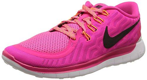 Nike Free 5.0 Damen Laufschuhe,Mehrfabig (Pink Foil/Black-Pink Pow-Bright Citrus),36.5 EU