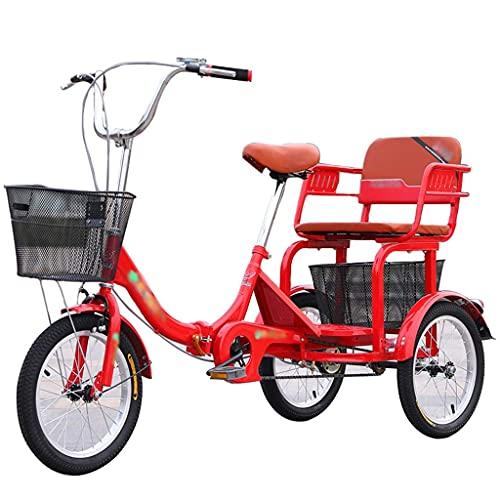 Triciclo Para Adultos Con Asiento Trasero Bicicleta De Ciclismo De Crucero De...
