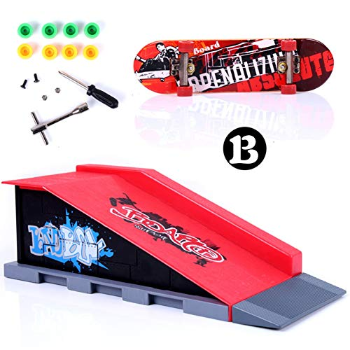 Forart Mini patinetas profesionales Skateboard con dedos con juego de rampas, Skate Park Kit Novedad Skateboard de escritorio Skateboard Toys con caja de regalo (teclado aleatorio)