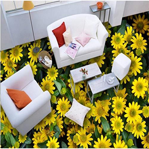 Custom Large-Scale Mural Floor PVC Waterproof Thickening Mulch 3D Flower Ocean Floor Living Room wear-Resistant floor300x210cm