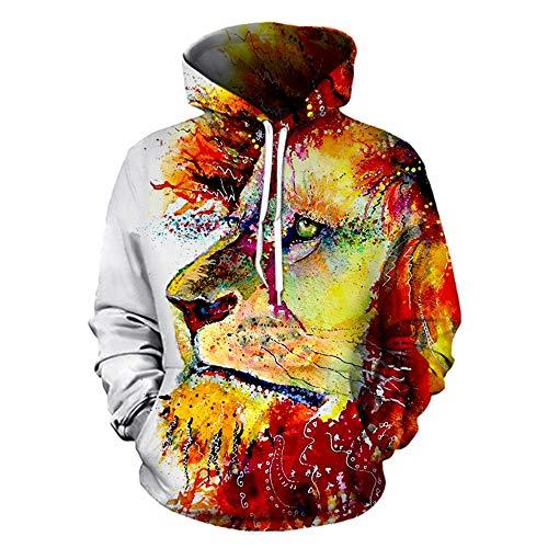 SALEBLOUSE Kapuzenpullover Herren 3D Druck Pullover Hoodie Pulli Freizeit Sweatshirt Sweater Top Oberteie Unisex 3D Gedruckt Hoodies...