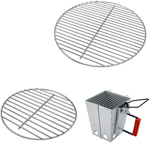 Uniflasy 7431 Cooking Grate 7439 Charcoal Grate for 14 Inch Smokey Joe Smokey Joe Silver Gold product image