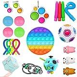 Fidget Toy Set, Juguetes Sensoriales Fidget Paquete de Juguetes Sensoriales, para Oficinas Hogares Aulas, para el Autismo, la Ansiedad, la Sensibilidad,TDAH y TOC, para Niños y Adultos -23 Piezas