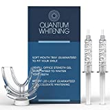 Teeth Whitening Kit With LED Light by Quantum, 36% Carbamide Peroxide, (2) 5mL Gel Syringes, Made in USA