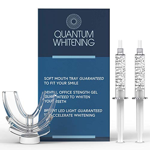 Quantum Teeth Whitening Kit With LED Light, 36% Carbamide Peroxide, (2) 5mL Gel Syringes, Made in USA