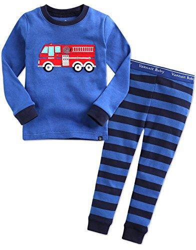 Vaenait baby - Ensemble de Pyjama - Bébé (garçon) 0 à 24 Mois - Bleu - 116 cm/122 cm/X-Large