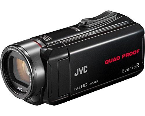 JVC GZ-R435 - Videocámara de memoria (pantalla articulada 3', vídeo Full HD, hidrófugo, SDXC compatible, tarjeta de memoria SD, memoria flash interna 4 GB) negro