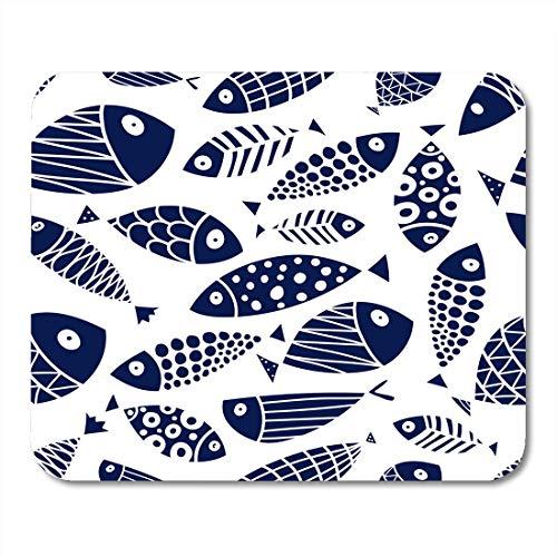 AOHOT Mauspads Pattern Cute Fish Kids Animal Aquarium Aquatic Cartoon Comic Mouse pad 9.5