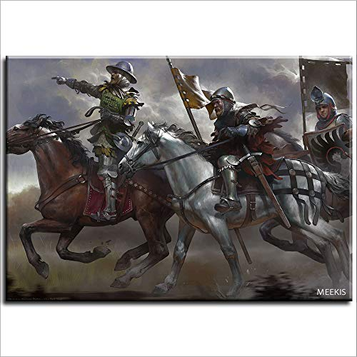 SDFGS Quadro digitale Kingdom Come Deliverance Band of Bastards gioco su tela regalo per adulti 40X50 (senza cornice)