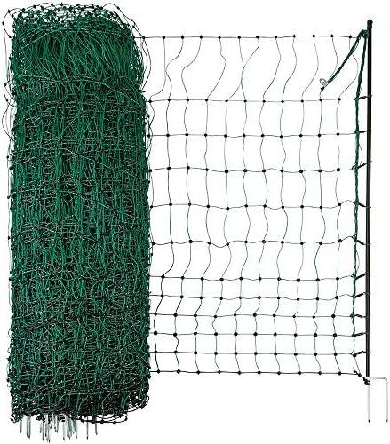 Geflügelzaun Geflügelnetz  Volieren  1,50 m x 20 m  grün  Maschenweite 5 cm