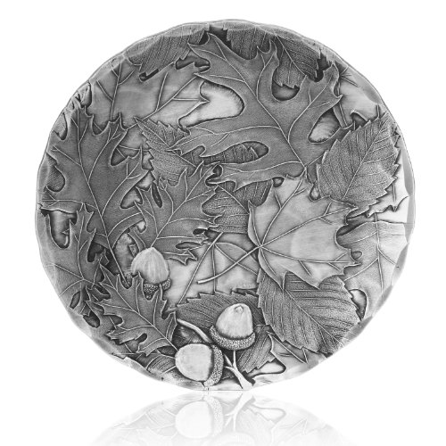 Coaster, Autumn, Hand-hammered Aluminum, Keeps Tabletops Safe, 4.5 Inch Round Coaster, Handmande in the USA by Wendell August Forge - 12999005