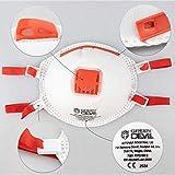 Andreas Dell EL 1x Mundschutz FFP3 N99 mit Ventil und elastischen Bändern Deltaplus