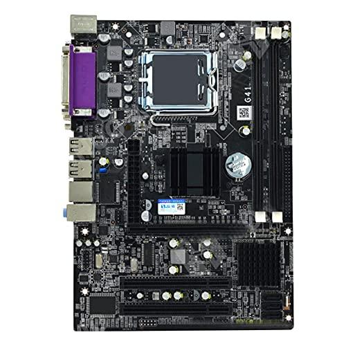 Laimiko Placa Base de Computadora de Escritorio G41 Ddr3 de Doble Canal 8G USB 2.0 Placa Base Sata Compatible con CPU LGA Serie 771