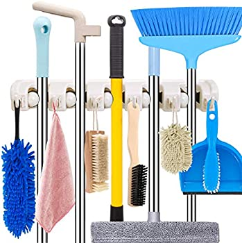 HYRIXDIRECT Heavy Duty Mop and Broom Holder