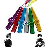 Flute per strumenti musicali kazoo in metallo, 6 colori, chitarra, ukulele, violino, tasti...