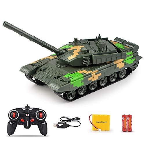 FXQIN 2.4GHz Kampfpanzer Ferngesteuert 1/24 Mini RC Panzer mit USB Ladekabel, Drehbarer Geschützturm, Sound und Licht Militärpanzer Tank RC Militärfahrzeuge für Kinder