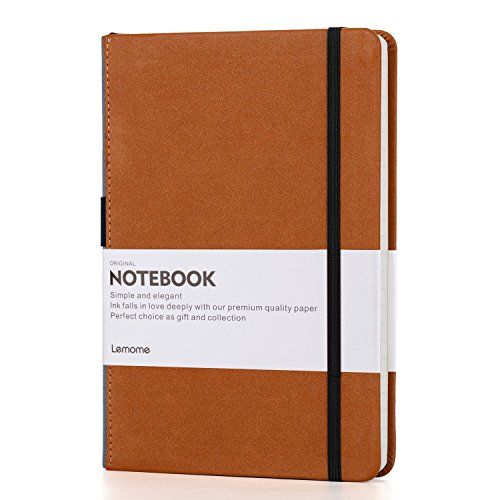 Grid Paper Notebook - Hardcover Classic Notebook with Pen Holder - Thick Premium Paper + Page Dividers Gifts 8.4 x 5.7 In