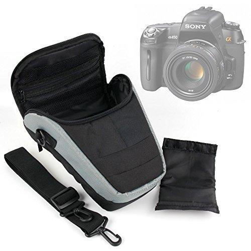 Duragadget - Custodia per fotocamera Bridge Sony DSC-HX60, HX400V, NEX-5T e RX100 II/DSC-RX100M2 e accessori + tracolla Bonus, dimensioni interne: 20 x 18-11 x 9 cm