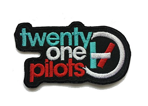 "Pilots Embroidered Iron/Sew-on Patch 3.5""x 2"" (Multi Color on Black)"