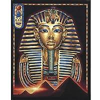 aksldf フルスクエアドリル5D DIYダイヤモンド絵画エジプトモザイクステッチダイヤモンド刺繡家の装飾ギフト-30x40cmフレームなし