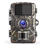 Ancocs Caméra de Chasse 12MP 1080P IP66 Étanche Surveillance HD Caméra Infrarouge Caméra de Faune De Jeu avec Détecteur de Mouvement Vision Nocturne 38 LED Infrarouge 940 nm