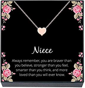 NIECE JEWELRY GIFT: Beautiful keepsake necklace to symbolize the love and bond shared between aunts/uncles and niece. This is sure to be a favorite present - a meaningful gift she'll always treasure. Perfect for best niece ever! MEASUREMENTS & DETAIL...
