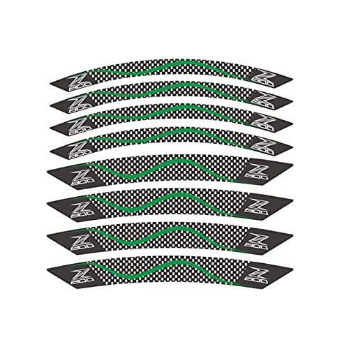 Pegatinas de llanta de Rueda Etiqueta engomada de la Motocicleta de Vinilo para Kawasaki Z800