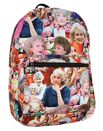 The Golden Girls Photo Collage Sublimated Laptop Backpack Bag