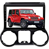 Car Stereo Radio in Dash Navigation Player for Jeep Wrangler 2015 2016, Android 10.0 Head Unit with Carplay 10.1 inch IPS Touchscreen Support Bluetooth/WiFi with Backup Camera.