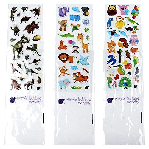 Goody Bags School Activity Kicko Make an Ark Stickers Room Decor Set of 12 Ship Stickers Scene for Birthday Treat Group Projects Arts and Crafts