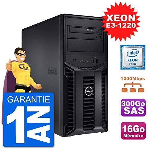 Dell Server Poweredge T110 II Xeon Quadcore E3-1220 16 Gb 300go Perc H200 SAS