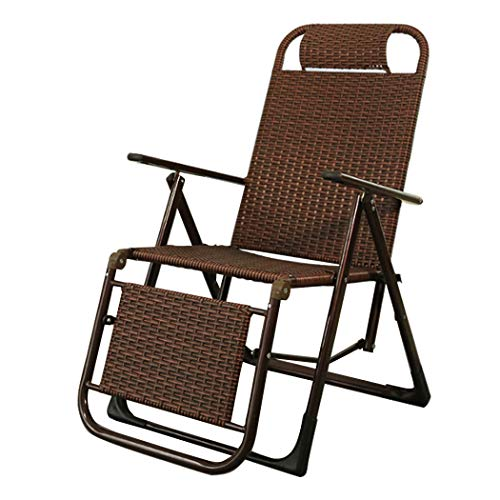 GAIBO Zero Gravity Chair Folding PE Rattan, Aluminum Frame Lounge Chair for Garden Camping Pool Patio Beach, Support 200KG/440lb,Brown