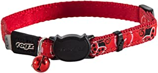 ROGZ Cat Collar Small fits 8-12in Neck - Red Ladybirds Pattern