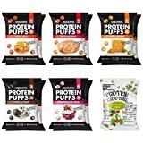 Shrewd Food Protein Puffs, Keto Friendly Snacks, Low Carb Crunch, Protein Crisp, Savory and Sweet, Gluten Free, Soy Free, Peanut Free, 14g Protein - 2g Carbs Per Serving, 12 Variety Pack