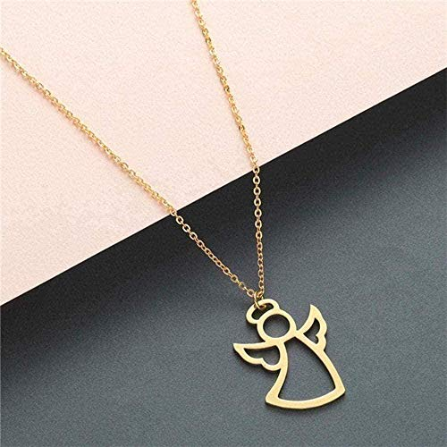 niuziyanfa Co.,ltd Necklace Statement Necklace Women Necklace Stainless Steel Jewelry Wolf Phoenix Yoga Ballet Sports Gold Chain Pendant Necklace Girls Gift Neklace for Women