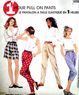 McCall's Sewing Pattern 8275 Misses' 1 Hour Pull-on Pants, Capri, Shorts, Y (Size 4 6 8 10 12 14)
