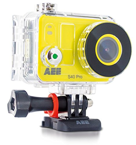 AEE S40 - Videocámara Deportiva Full HD de 8 MP, Color Amarillo