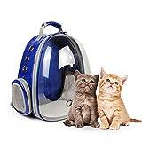 leegoal Haustier Rucksack Raumkapsel, 360 ° Sichtfeld Tragbar Transportrucksack Transporttasche Tragetasche für Klein Haustier Hunde Katzen Kaninchen im Freien, Sicher & Atmungsaktiv