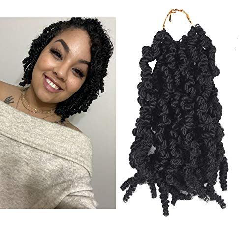 Curly Spring PRE Twisted Braids Syntheti crochet hair 3 Packs 10 Inch Pre-Twisted Passion Twists Braiding Crochet Braids (T1B)