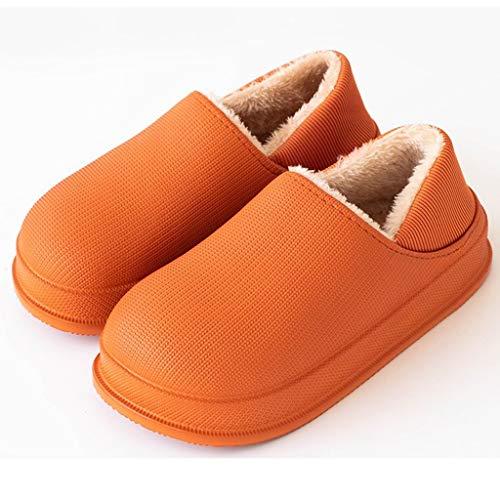 DYXYH Zapatillas de Invierno Zapatillas de Felpa cálidas Informales Interiores Impermeables Zapatillas de Piel de algodón Zapatillas de casa (Size : 37-38)