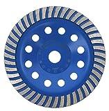 PRODIAMANT Disco abrasivo de diamante 180 mm x 22,2 mm, calidad profesional para hormigón, piedra natural, mampostería, solado, lijadora de disco universal con segmento de diamante