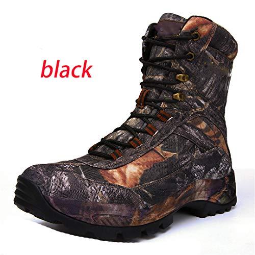 Randonnée étanche Professionnelle Respirante Bottes Hommes Montagne Voyage extérieur Bottes de Chasse d'escalade Chaussures -Black 9