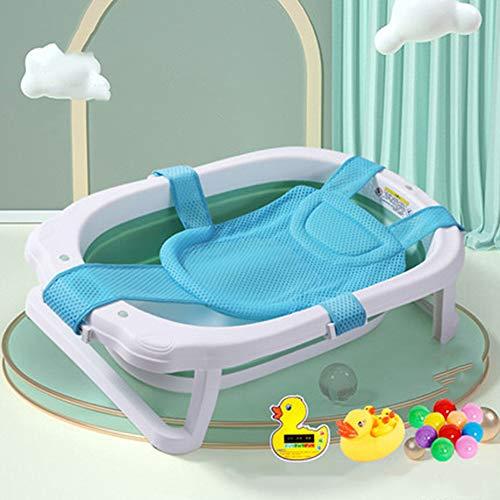 Temperatuurgevoelige babybadje, pasgeboren kunnen zitten en liggen in de badkuip, opvouwbaar en telescopische, draagbare opslag, beschikbaar voor 0-8 jaar oud,F