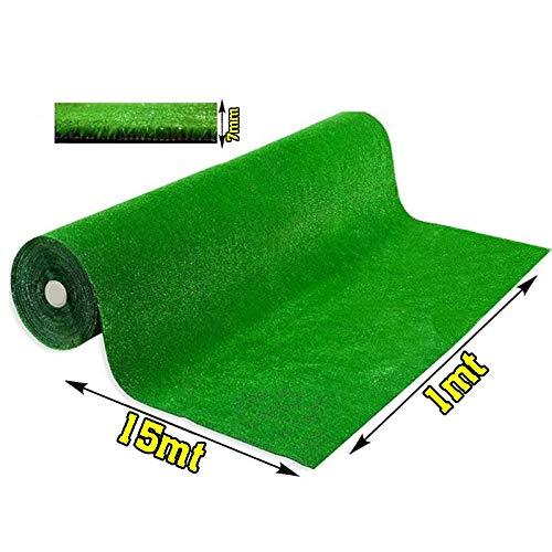 Olivo.Shop - Grass Green, Prato Sintetico da 7mm per Realizzare Giardini o campi da Calcio. Manto erboso di Finta Erba Disponibile in Varie Misure. (1X15 Metri)