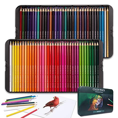 Set da colorare, 72 Matite Colorate per Adulti, Colorazione per Bambini, Creazione di Biglietti fai da te, Idea Regalo per Compleanno, Natale, Halloween, Pasqua