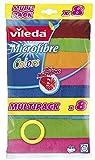 Vileda Microfibre Colors, Panni in Microfibra, Lavabili in Lavatrice, Riutilizzabili, Multicolore, 4 x 18.5 x 31 cm, 8 Pezzi